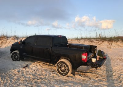 My truck at the beach